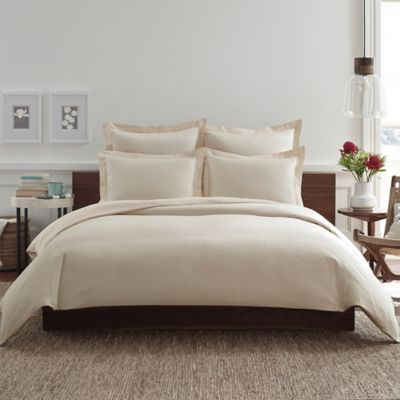 Real Simple® Clip N Zip Twin Reversible Duvet Cover in Khaki