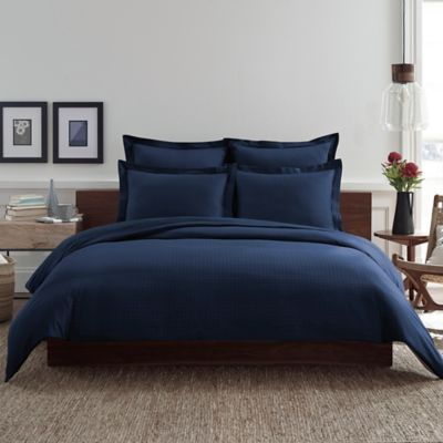 Real Simple® Clip N Zip Twin Reversible Duvet Cover in Navy