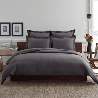 Real Simple® Clip N Zip King Reversible Duvet Cover in Charcoal
