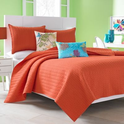J by J. Queen New York Camden Full/Queen Coverlet in Orange