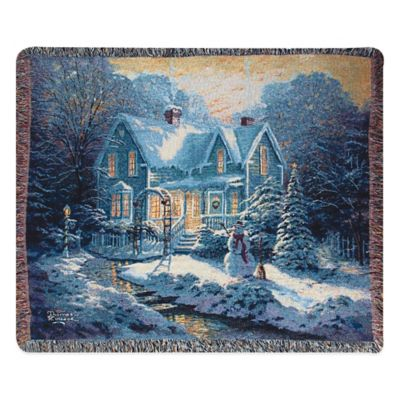 """Blessings of Christmas"" Decorative Tapestry Throw"