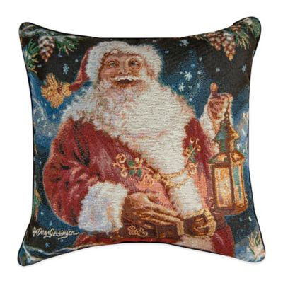"Enchanted Christmas"" Tapestry Square Throw Pillow"