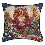 """Christmas Blessing"" Tapestry Square Throw Pillow"