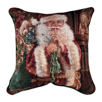 """Not a Creature Was Stirring"" Tapestry Square Throw Pillow"