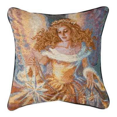 """Light of the World"" Tapestry Square Throw Pillow"