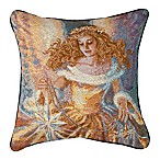 Light of the World  Tapestry Square Throw Pillow