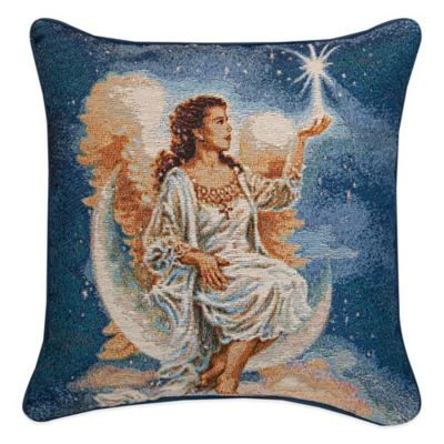 """Christmas Star"" Tapestry Square Throw Pillow"