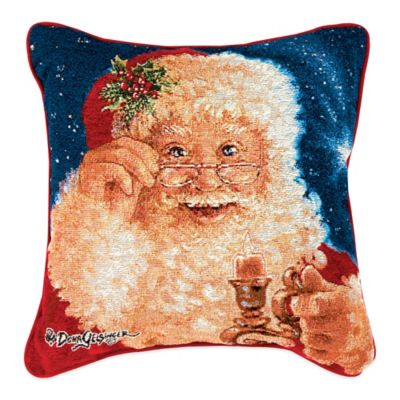 """Merry Christmas"" Tapestry Square Throw Pillow"