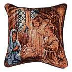 Christmas Pageant  Tapestry Square Throw Pillow