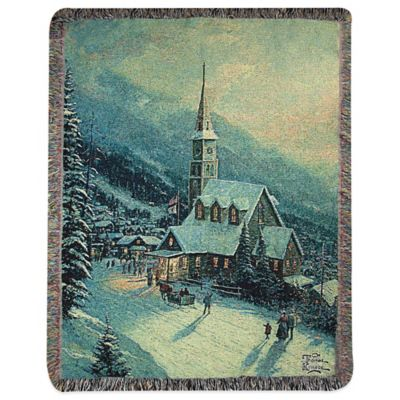 """Moonlight Village"" Decorative Tapestry Throw"