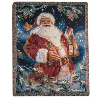 """Enchanted Christmas"" Tapestry Square Throw Pillow"