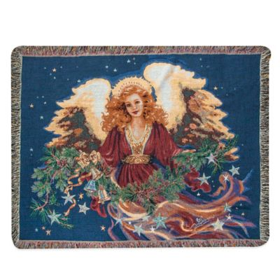 """Christmas Blessing"" Decorative Tapestry Throw"