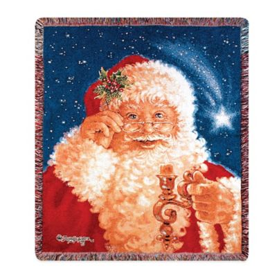 """Merry Christmas"" Decorative Tapestry Throw"