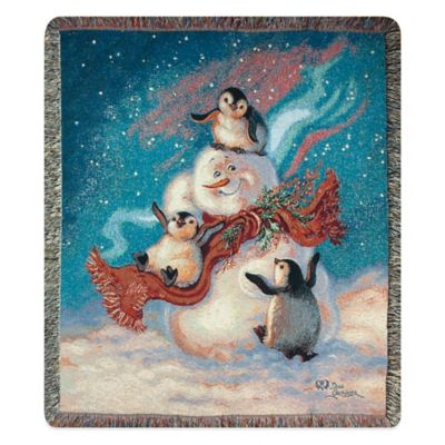 """Blizzard Buddies"" Decorative Tapestry Throw"