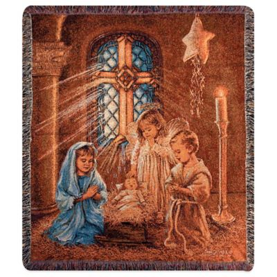 """Christmas Pageant"" Decorative Tapestry Throw"