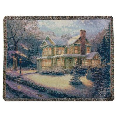 """Victorian Christmas III"" Decorative Tapestry Throw"