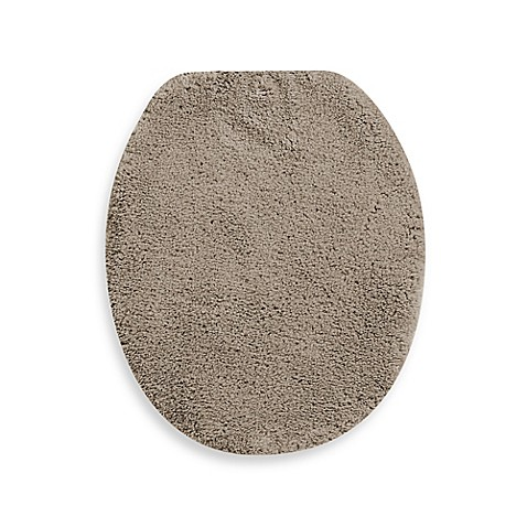 buy wamsutta perfect soft elongated toilet lid cover in taupe from bed bath beyond. Black Bedroom Furniture Sets. Home Design Ideas