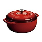 Lodge 6 qt. Enameled Cast Iron Dutch Oven in Red