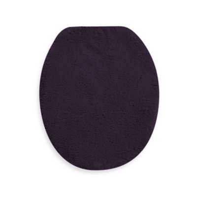 Wamsutta® Perfect Soft Elongated Toilet Lid Cover in Deep Plum