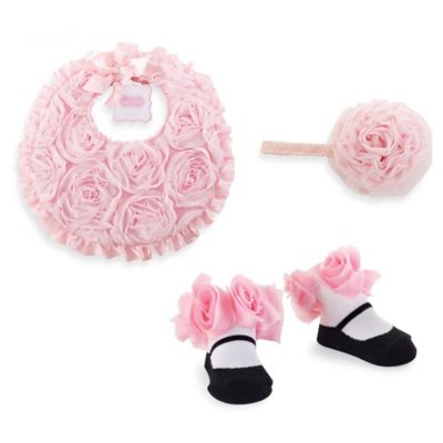 Mud Pie® 3-Piece Rosette Gift Set in Pink