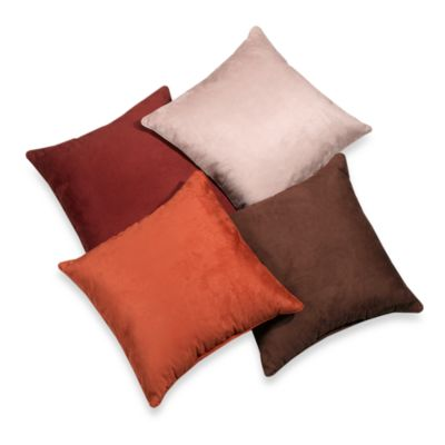 Suede 20-Inch Square Throw Pillow in Clay