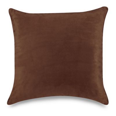 Sueded 20-Inch Throw Pillow in Coffeebean
