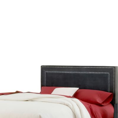 Hillsdale Amber King Headboard with Rails in Pewter