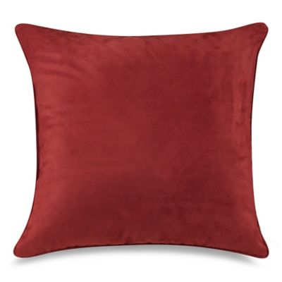 Sueded 20-Inch Toss Pillow in Mulberry