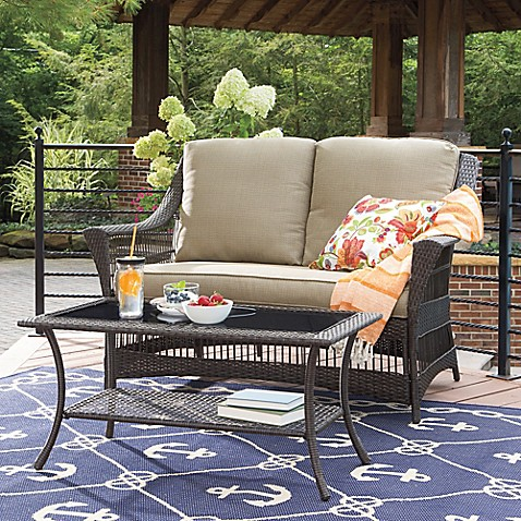 Savannah Wicker Patio Furniture Collection Bed Bath Beyond