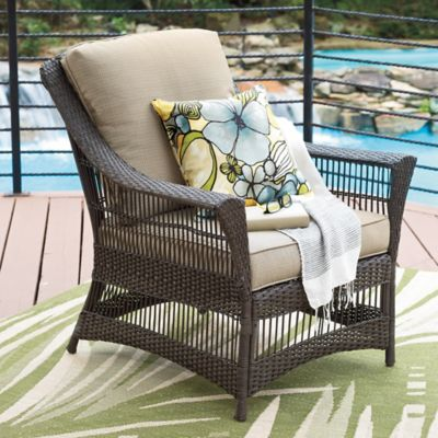 Savannah Wicker Club Chair in Sand