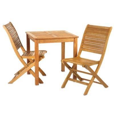 Westerly 3-Piece Acacia Wood Bistro Set