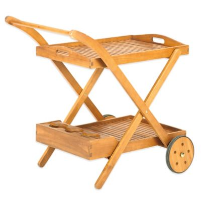 Westerly Acacia Wood Beverage Cart