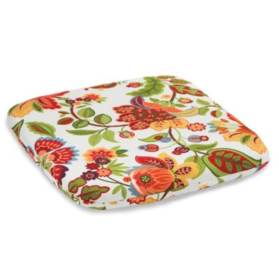 Outdoor Chair Cushion in Telfair Red