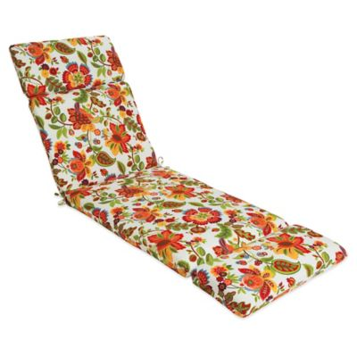Outdoor Chaise Cushion in Telfair Red