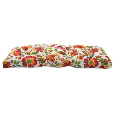 Outdoor Settee Cushion in Telfair Red