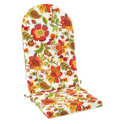 Outdoor Adirondack Cushion with Ties in Telfair Red