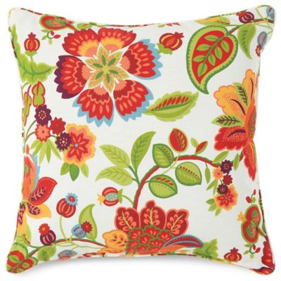 17-Inch Square Throw Pillow in Telfair Red