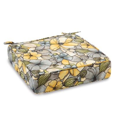 Outdoor Deep Seating Cushion with Ties in Whitlock Yellow