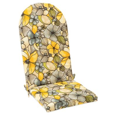 Outdoor Adirondack Cushion with Ties in Whitlock Yellow