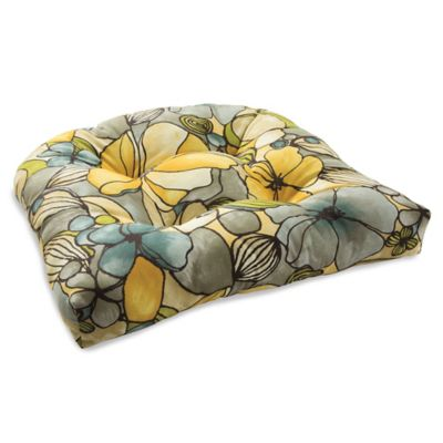 Outdoor Tufted Cushion in Whitlock Yellow