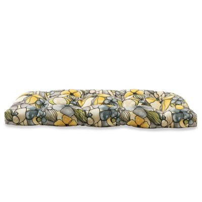 Outdoor Settee Cushion in Whitlock Yellow