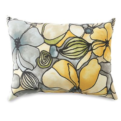 12-Inch x 16-Inch Outdoor Oblong Throw Pillow in Whitlock Yellow