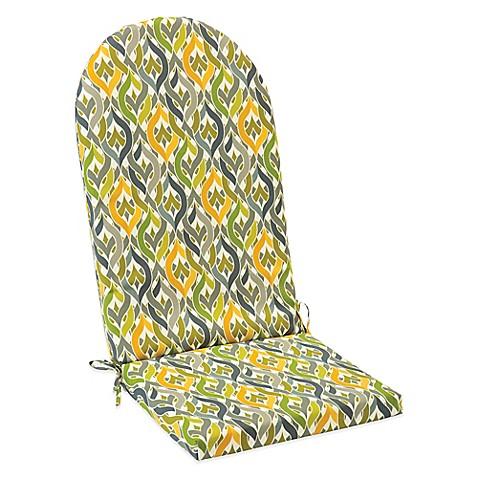 Buy Outdoor Adirondack Cushion With Ties In Geo Yellow