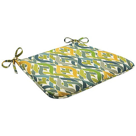 Outdoor Bistro Chair Cushion With Ties Geo Yellow Bed