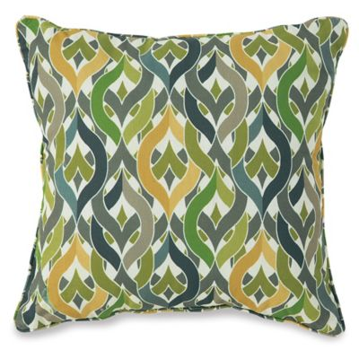 17-Inch Outdoor Throw Pillow in Geo Yellow