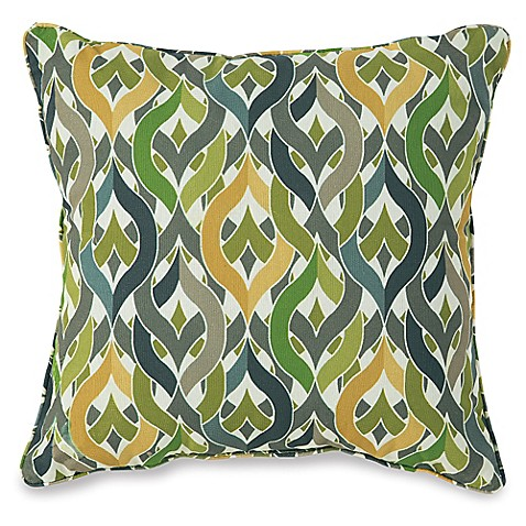 Buy 17-Inch Outdoor Throw Pillow in Geo Yellow from Bed Bath & Beyond