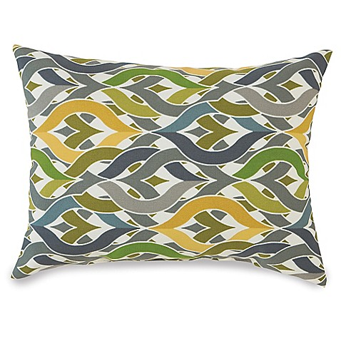 Outdoor Throw Pillows Yellow : Buy 12-Inch x 16-Inch Outdoor Oblong Throw Pillow in Geo Yellow from Bed Bath & Beyond