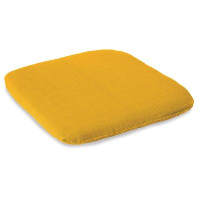 Outdoor Chair Cushion in Yellow