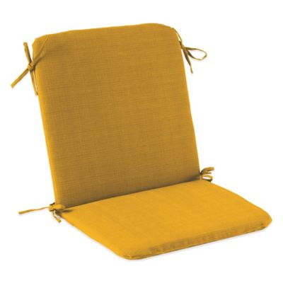 Outdoor Mid Back Cushion with Ties in Yellow