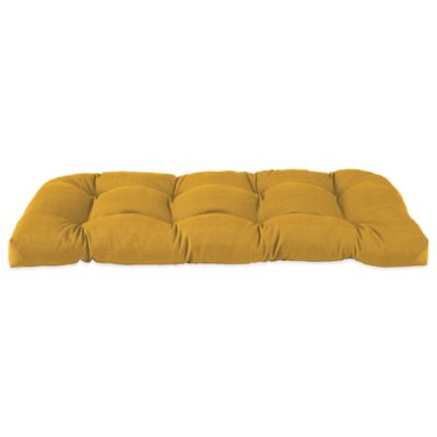 Outdoor Settee Cushion in Yellow